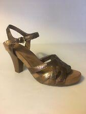 e72f2ada0f6 NWOB AEROSOLES Hearsay Bronze Metallic High Heel Sandals 9M
