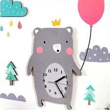Balloon Bear Character Home interior Decor Silent Wall Clock