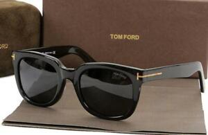 Authentic Tom Ford TF211 AF 001 53/20 140 Black Gold Polarized Unisex Sunglasses