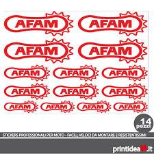 FOGLIO ADESIVO AFAM STICKERS ADESIVI ROSSO RED KIT - (50X50 CM CIRCA)