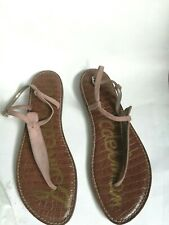 Sam Edelman Women's Pink Suede Gigi Thong Sandals With Ankle Straps Size 11