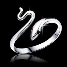 Anello Fede Fedina Uomo Donna Amore Serpente Solitario Cristallo Serpentino Rega