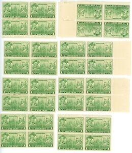 1936 1c US Postage Stamps Scott 790 Navy Jones & Barry Ships Lot of 32
