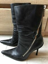 bottines cuir noir FREE LANCE Freelance 37.5 luxe boots