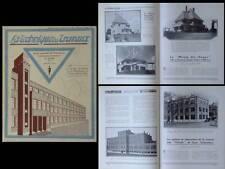 TECHNIQUE DES TRAVAUX n°7 1933 UNIVERSITE LIEGE, CANAL JULIANA, ALBBRUCKK DOGERN