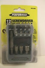 New Performax 12 piece Screwdriver Bit Set.  New & Sealed
