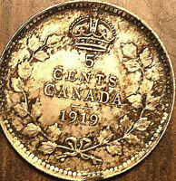 1919 CANADA SILVER 5 CENTS COIN - Fantastic lustrous example!