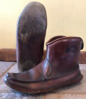 Vintage Chippewa Moccasins Carl Dyer Style Mountain Man Boot Shoes Thick Leather