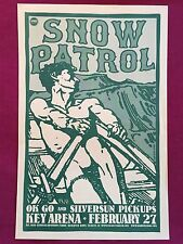 SNOW PATROL Original Concert Poster Gig Flyer Portland