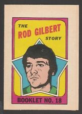 1971-72  TOPPS / OPC  BOOKLET   # 18  ROD GILBERT   INV A3673