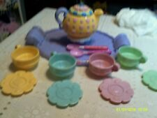 ~FISHER PRICE TEA PARTY TRAY AND CUPS & PLATES & MUSICAL TEAPOT...14.99