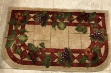 D SHAPE, HALF MOON KITCHEN RUG / DOOR MAT - LATEX ANTI-SLIP - FRUIT THEME - VGC