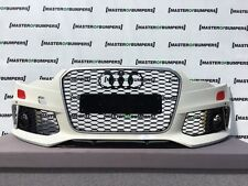 AUDI RS6 2015-2018 Frontal Parachoques En Blanco Genuino Con Parrillas [A462]