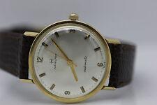 CLEAN Vintage 1960's Men's 14k Solid Gold Hamilton Automatic Swiss Watch Runs