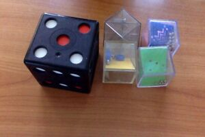 MOVING PUZZLES closed cubes with details inside (COLLECTION OF 5)