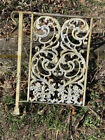 Ornate Antique Wrought Iron Porch Railing w/ Acanthus Leaves & Flowers 2 Avail