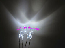 100pcs, New 2mm White Water Clear Round Top 12000MCD LED Bright Leds Light New