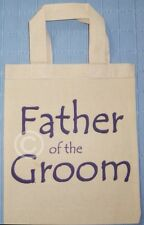 FATHER OF THE GROOM COTTON GIFT BAG Wedding Favour