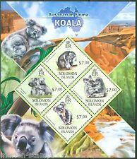 SOLOMON ISLANDS  2013 AUSTRALIAN FAUNA KOALA BEAR SHEET  MINT NH