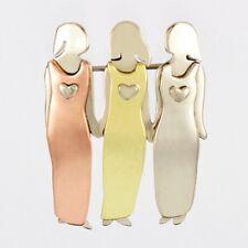 Three Sisters or 3 Best Friends Pin 3 Sisters Girlfriends Pin Handmade Triplets