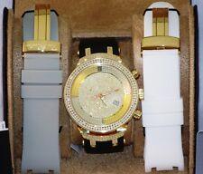 New gold tone Mens JOJO Joe Rodeo master jjm9  2.20ct.apx.242pcs.Diamonds watch.