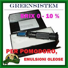 RIFRATTOMETRO 0-10% BRIX ATC POMODORO, SUCCHI,EMULSIONI - REFRATTOMETRO