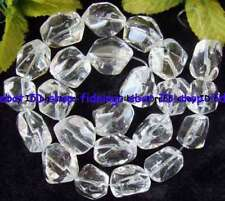 freeform 13-16mm natural clear crystal loose Beads 15""