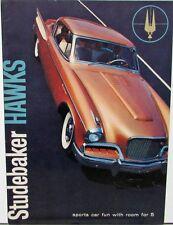 1957 Studebaker Golden & Silver Hawks Color Original Sales Brochure