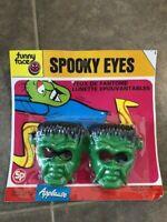 Vintage Spooky Eyes Frankenstein Head Halloween Plastic Glasses Sealed