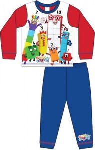Boys CBeebies Numberblocks Pyjamas Nightwear Pyjama Set 18mths-5yrs FREE UK P&P