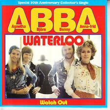 """ABBA  Waterloo & Watch Out  PICTURE SLEEVE 7"""" 45 rpm vinyl record BRAND NEW RARE"""