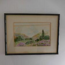 Aquarelle paysage watercolor landscape fait main handmade France