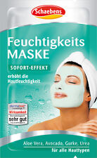10 x 5ml Schaebens moisturizing mask with Aloe vera, avocado, cucumber New
