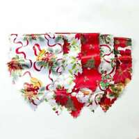 Christmas Table Runner Cover Polyester Home Tablecloth Xmas Party Table Decor