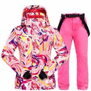 Women's Ski Suit Snowboard Set Jacket Pants Waterproof Winter Outdoor Snowsuit