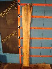"""#9110 1"""" T 00004000 Hick black line spalted flaming red box elder slab"""