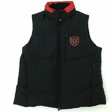 L-RL Ralph Lauren Active Women's Large Full Zip Down Puffer Vest Red Black