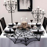 """40"""" Lacy Spider Web Halloween DIY Tablecloth Round Table Topper Cover Home Decor"""