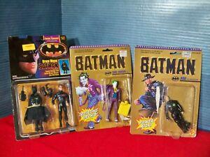 Batman Action Figure lot 1989 The Joker & Bob Toy Biz 1990 Bruce Wayne Kenner
