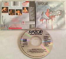 Razor - Violent Restitution CD ORG1988 R/C nuclear assault sacrifice annihilator