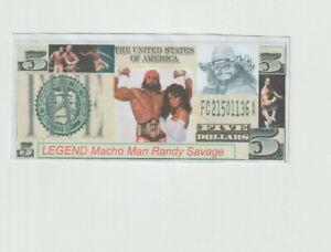 wcw,wwe,MLB, star Macho Man Randy Savage with Elizabeth Hulk Hogan Novelty Bill.