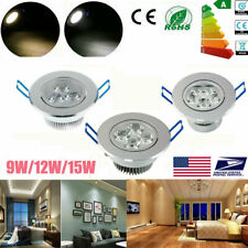 DIMMABLE 9W 12W 15W LED Ceiling Recessed Fixture Lamp Panel Down Spot Light