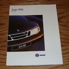 Original 1995 Saab 900 / 9000 Foldout Sales Brochure 95