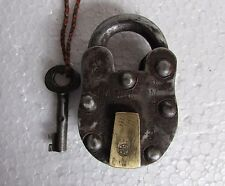 Vintage Old Handcrafted Harrison Aligarh 6 Lever Iron Padlock, Collectible