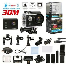 4K Ultra HD DV 16MP 1080p 60fps Sports Action Camera + Full Accessory Bundle UK