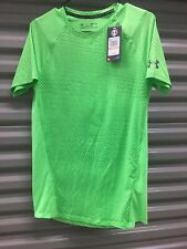 Men's Under Armour Heat Gear Loose Fit Short Sleeve Shirt Green Size S/M Y