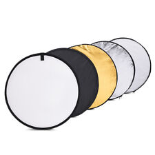 "24"" 5in1 Handheld Light Mulit Collapsible Disc Photo Studio Reflector 60cm F4U4"