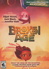 Broken Age PC Game Window 10 8 7 XP Computer Games point and click adventure NEW