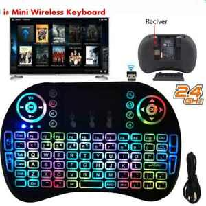 Mini Backlit Keyboard i8 2.4GHz Wireless Keyboard Touchpad for TV Box&Android PC