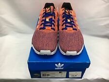 MENS ADIDAS ZX FLUX WEAVE ROYAL/ORANGE ORIGINAL SHOES SIZE 10.5 FREE SHPPING